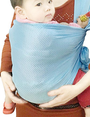 Vlokup Baby Wrap Sling Carrier for Newborn, Infant, Toddler, Kid | Breathable Lightweight Stretch Mesh Water Sling | Nice for Summer, Pool, Beach, Swimming | Perfect Shower Gift Lakeblue