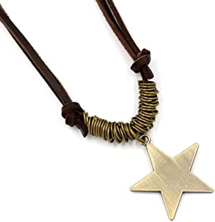 Necklace Pentagram Leather Pendant Sweater Chain Female Clothes Accessories Star Student Creative Fashion Accessories