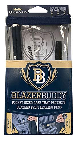 Helix Oxford Blazer Buddy Schreibwaren-Set mit kompaktem, transparentem Federmäppchen