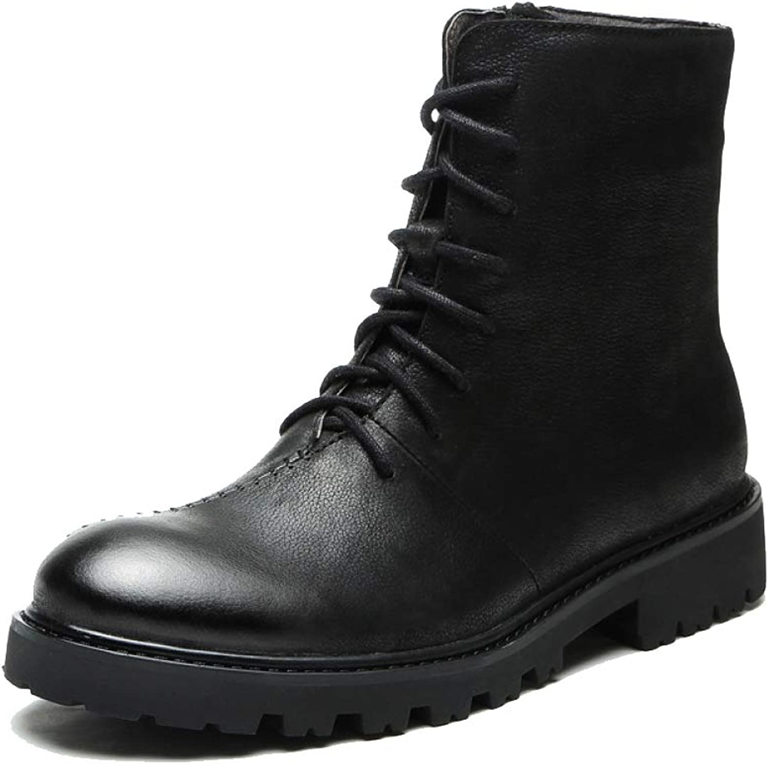 DSFGHE Mens Martin Boots Leather Casual Chelsea Boots Lined Safety Skidproof Ankle Boots