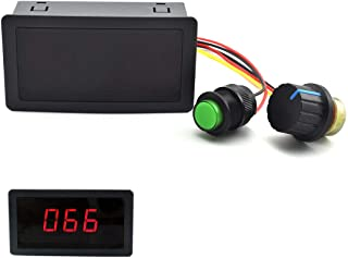 SDTC Tech 6V-30V 8A DC Motor Speed Controller 6V 12V 24V PWM Stepless Speed Control Switch Adjustable Driver Regulator with Duty Cycle LED Digital Display & Knob
