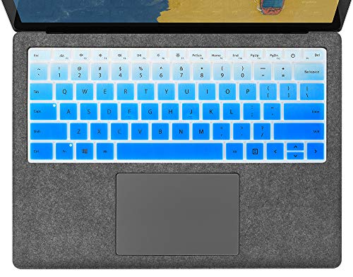 Ultra Thin Surface Laptop 3 Keyboard Cover for Microsoft Surface Laptop 3 13.5 Inch and 15 Inch 2019 Laptop Keyboard Cover Protector Skin, Surface Laptop 3 Accessories, Ombre Blue (US Layout)