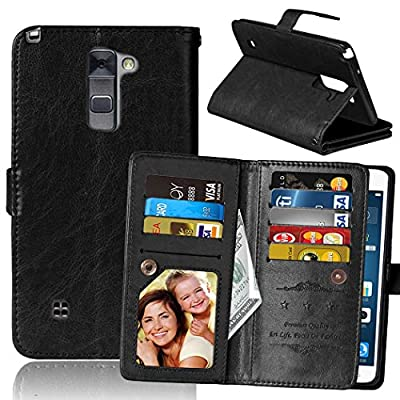 LG G Stylo 2 Case, SUMOON Luxury Fashion PU Leather Magnet Wallet Credit Card Holder Flip Case Cover with Built-in 9 Card Slots & Stand For LG G Stylo 2 / LG Stylus 2 LS775