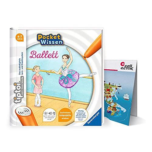 Ravensburger tiptoi ® Buch 4-7 Jahre | Pocket Wissen - Ballett + Kinder Weltkarten Poster | pocketwissen, klein, Tip TOI, Mädchen