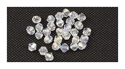 Confezione da 60Crystal AB 4mm Bicono Sfaccettato Perline (81720–17)