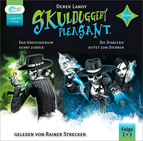 Skulduggery Pleasant 2 Das Groteskerium schlägt zurück + 3 Die Diablerie bittet zum Sterben: gelesen von Rainer Strecker, 2 MP3-CD, Laufzeit: 14 Std. (Skulduggery Pleasant, 2-3)