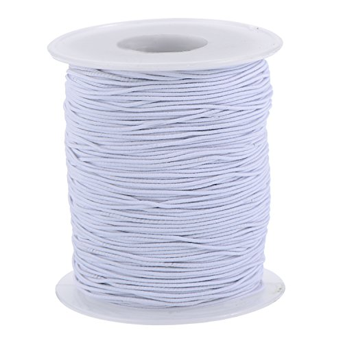 Outus Elastic Cord Stretch Thread Beading Cord Fabric Crafting String, 0.8 mm, White (100 Meters)