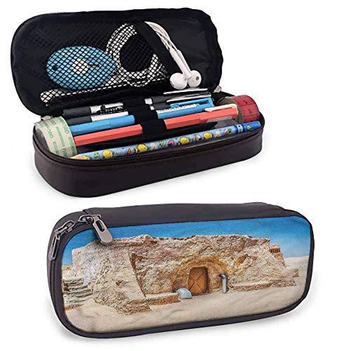IOPLK Galaxy Federmäppchen, leer, Tunesien-Film-Set für Stifte, Bleistift, Samsung, Huawei, Stift-Zubehör, USB-Kabel, Kopfhörer, Füllfederhalter, 20,3 x 8,9 x 3,5 cm