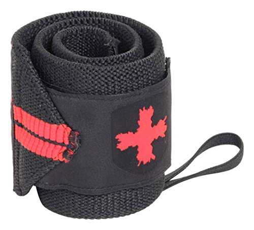 Harbinger Line Wrist Wraps, Unisex Adulto, Black/Red, Talla única