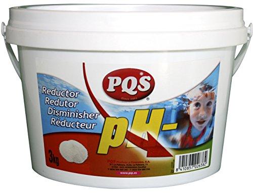 PQS Reductor pH - sólido Aguas de Piscinas. Bote 3 kg.