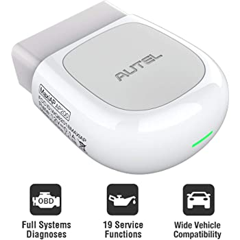 Autel AP200(HT200) with Bluetooth OBD2 Scanner, Code Reader with Full Systems Diagnoses and 19 Service Functions, Mini Size Version of MK808 Diagnostic, Vehicle Scan Tool for iPhone & Android Devices