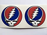 SBD Decals 2 Grateful Dead Steal Your Face Jerry Garcia Die Cut Adhesivos