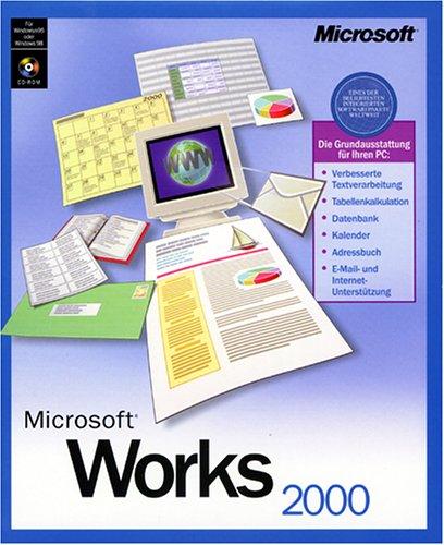 Microsoft Works 2000 CD Win 9x, NT 4.0 Textverarb. Kalkulation Datenb. Grafik
