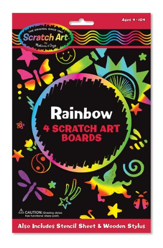 Rainbow: 4 Scratch Art Boards [With 4 Scratch Art Boards, Wooden Stylus, Instructions and Stencils]
