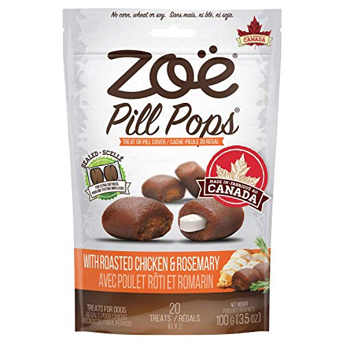 Zoë Pill Pops for Dogs Healthy Dog Treats All Natural Dog Treats to Hide Medication Roasted Chicken with Rosemary Recipe 35 oz