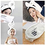 Lovef 2Pcs New Cute Soft Cartoon Bowknot Headband Women Girls Hair Band Fit for Washing Face and Making Up Head-Wear for Girls