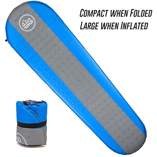 Lightweight Self Inflating Air Mattress Camping with Water-Resistant & Puncture-Proof Fabric