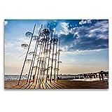 Premium Textil-Leinwand 120 x 80 cm Quer-Format Umbrellas