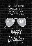Grafik Werkstatt Glückwunschkarte Geburtstag  Musikkarte mit Sound   Coversong 'What a man'