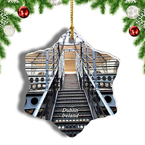 Weekino Ireland Kilmainham Gaol Dublin Christmas Ornament Travel Souvenir Tree Hanging Pendant Decoration Porcelain 3' Double Sided