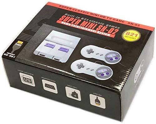 O RLY Retro Spiel konsolen Klassische Videospiele Videospielkonsole TV HDMI Zwei Controller (821 Games)