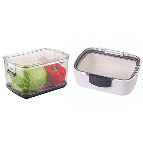 Prepworks by Progressive Produce ProKeeper Storage Container with Stay-Fresh Vent System, 5.7 Quarts & Prepworks by Progressive Mini Deli ProKeeper, PKS-705 Air-Tight Food Storage, Deli Meat, Cheese