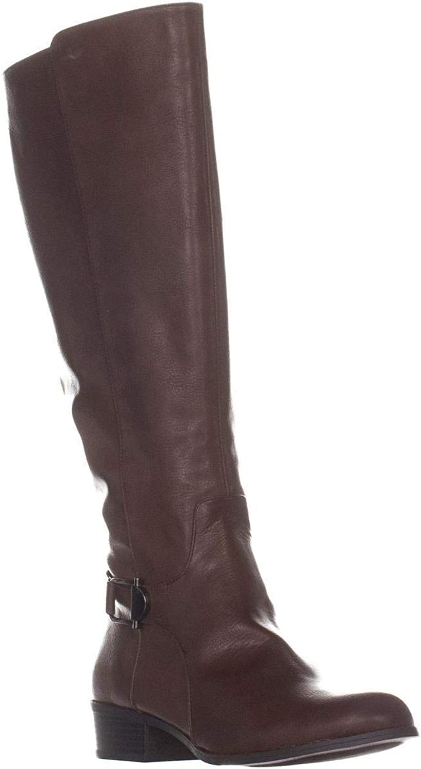 Alfani A35 Kallumm Wide Calf Riding Boots, Cognac