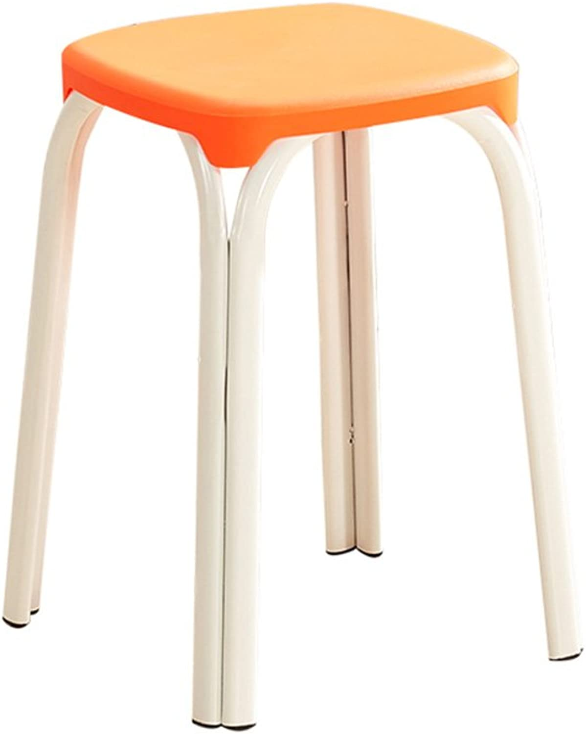 Plastic Stool Padded Adult Household Dining Table Bar Stool Fashion Chair Modern Simple Living Room high Stool (color   2)