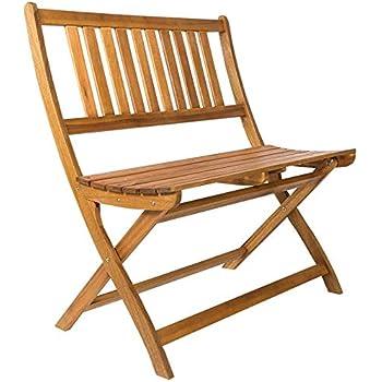 Gartenbank Paolo 2-Sitzer Eukalyptus Hartholz Teakfarbig