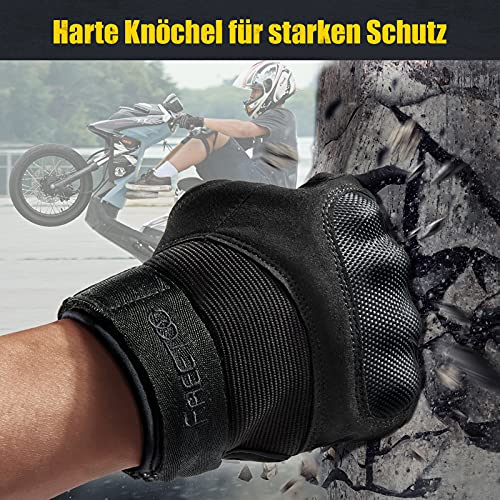 [Sport Handschuhe] FREETOO Motorrad Handschuhe Herren Vollfinger Army Gloves Ideal für Airsoft, Militär,Paintball,Airsoft, lebenslange Garantie - 2