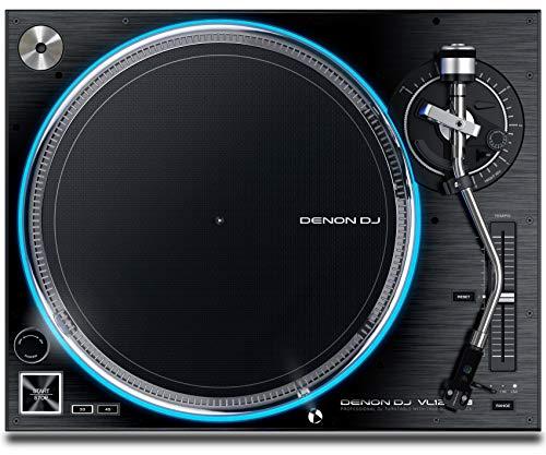 DENON DJ VL12 PRIME Plattenspieler für DJs mit Direktantrieb mit RGB Beleuchtung des Tellers