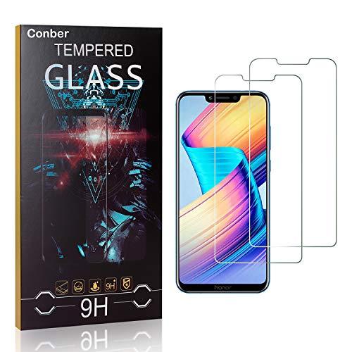Conber [2 Stück] Displayschutzfolie kompatibel mit Huawei Honor Play, Panzerglas Schutzfolie für Huawei Honor Play [9H Härte][Hüllenfreundlich]