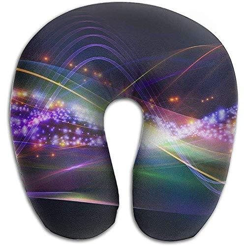 Pillow,Sound Wave Cómodo Cojín De Cuello En Forma De U para La Decoración De La Sala De Estar En El Hogar
