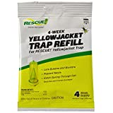 RESCUE! Yellowjacket Attractant Reusable Yellowjacket Traps – 4 Week Supply