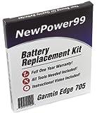 Kit de Remplacement de Batterie pour Garmin Edge 705 GPS avec Vidéo d'Installation,...