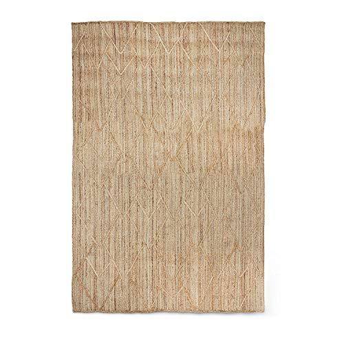 Loberon Teppich Eclars, Jute, H/B ca. 300/200 cm, beige