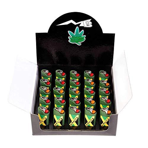MB-Müller \'Marihuana Weed Kiffer Rasta Muñeco Joint Mechero Fuego Zippo Cigarrillos 25Cerillas Pantalla en Muchos diseños Idea de Regalo