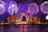 Kit De Pintura De Diamantes 5D Atlantis The Palm Fireworks Dubai Taladro Redondo Bordado Punto De Cruz Para La Decoración De La Pared Del Hogar 30x40 CM