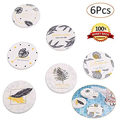 Coasters for Drinks Absorbent, 6 Pieces Drink C...