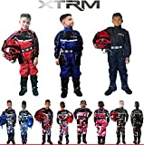 Kinder Kart Anzug XTRM Motorrad Quad Off-Road Suit Kinder Cross Sports Rennanzug für Motocross, Dirt Bike MX ATV PITBIKE Kart Motorroller Overall (Rot,S)