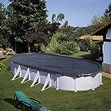 Gre CIPROV501 - Cobertor de Invierno para Piscina Ovalada de 500 x 300 cm, Color Negro