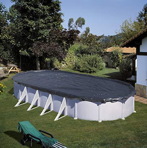 Gre CIPROV1001 - Couverture d'hiver pour piscine ovale, Noir, 1000 x 550 cm