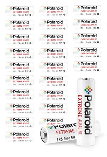 Polaroid Extreme AA Batteries Alkaline All Purpose Premium Grade Battery Double A Value Bundle 1.5V (24-Pack) Non Rechargeable