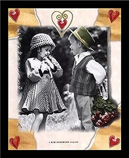 Buyartforless Work Framed My Valentine by Kim Anderson 20x16 Photograph Art Print Poster Romantic Romance, Black & White
