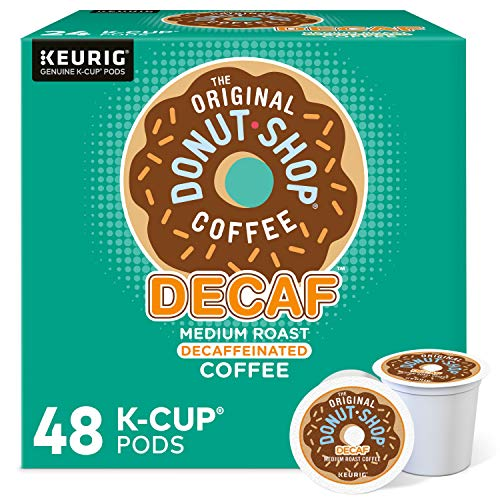 The Original Donut Shop Decaf, Single-Serve Keurig K-Cup Pods, Medium Roast Coffee, 48 Count