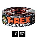 T-Rex Tape – Ruban adhésif extrêmement indéchirable & imperméable 821-55 – Répare, renforce et fixe – Pouvoir adhésif extrême – Dimensions : 48mm x 32m – Couleur gris