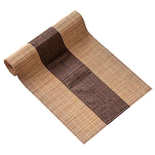 Bordslöpare Japansk Bambu Bordslöpare, Matbordisolering, Teahouse Decor Tea Mat, LongTable Runners för Middag, 30 cm Bred (Size : 210cm×30cm(82.7×11.8))