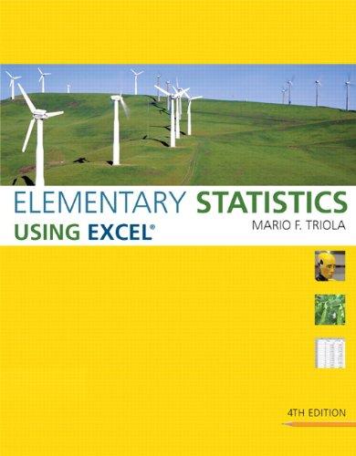 Elementary Statistics Using Excel
