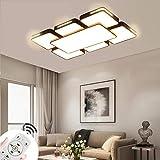MIWOOHO Lámpara de techo LED de 78 W, regulable, panel moderno, para dormitorio, comedor, salón, con mando a distancia de 2,4 G [Clase energética A++]
