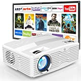[Native 1080P Projector 100Inch Projector Screen Included] 6800Lumens LCD Projector Full HD Projector Max 300' Display, Compatible with TV Stick, HDMI, AUX, AV, VGA, PS4, Smartphone for Outdoor Movies